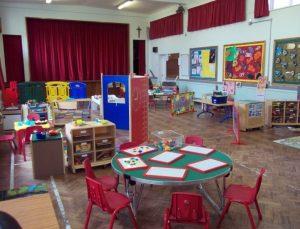 inside the preschool